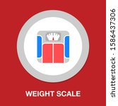 vector weight scale icon  ... | Shutterstock .eps vector #1586437306