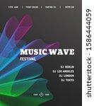 dj music party poster set ... | Shutterstock .eps vector #1586444059