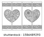 printable bookmark for book  ... | Shutterstock .eps vector #1586489293