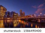 Night View Of Winter Boston....