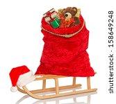 santa's sack full of gift...   Shutterstock . vector #158649248