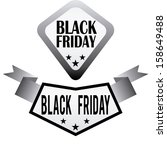 abstract black friday labels on ... | Shutterstock .eps vector #158649488