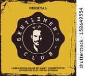 vintage label with gentleman  t ... | Shutterstock .eps vector #158649554