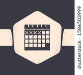 grunge calendar icon isolated...