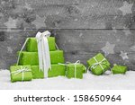 Green Christmas Presents With...
