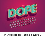 vector of stylized modern font... | Shutterstock .eps vector #1586512066