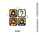icon of employees photos for... | Shutterstock .eps vector #1586518786