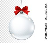 realistic transparent christmas ... | Shutterstock .eps vector #1586532556