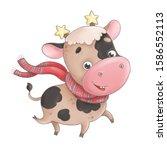 Cute Little Bull Calf In A...