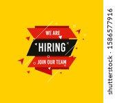 we are hiring  join now design...   Shutterstock .eps vector #1586577916