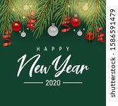 holiday background happy new... | Shutterstock .eps vector #1586591479