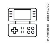 video game portable device icon ...