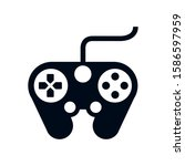 video game control handle icon...