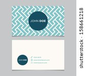 Business card template, blue pattern vector design editable | Shutterstock vector #158661218