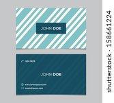 business card template  blue... | Shutterstock .eps vector #158661224