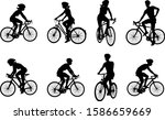 A Set Of Bicyclists Riding...