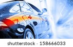back view of automobile in... | Shutterstock . vector #158666033