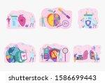 internet doctor. healthy heart  ... | Shutterstock .eps vector #1586699443