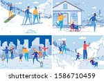 active winter christmas...   Shutterstock .eps vector #1586710459