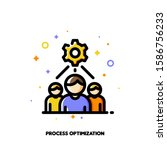 icon with business team and... | Shutterstock .eps vector #1586756233