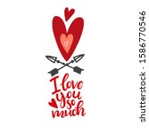 red heart with arrows and... | Shutterstock .eps vector #1586770546