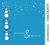 merry christmas and happy new... | Shutterstock .eps vector #1586782870