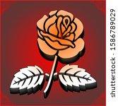 beautiful vector rose design... | Shutterstock .eps vector #1586789029