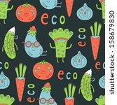 vegetables seamless | Shutterstock .eps vector #158679830