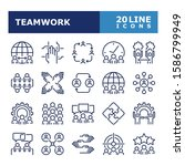 business people icons. teamwork ... | Shutterstock .eps vector #1586799949