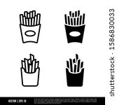 the best french fries icons... | Shutterstock .eps vector #1586830033