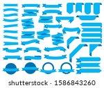 blue ribbon banners  template... | Shutterstock .eps vector #1586843260