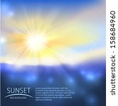 sunset background with text | Shutterstock .eps vector #158684960