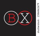 bx initial letter linked circle ...