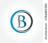 circle letter b logo with...