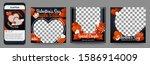set of social media post...   Shutterstock .eps vector #1586914009