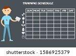training schedule. wall poster...   Shutterstock . vector #1586925379