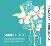 floral vector template.... | Shutterstock .eps vector #15869587