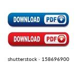pdf buttons | Shutterstock . vector #158696900