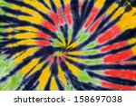 close up shot of tie dye fabric ... | Shutterstock . vector #158697038