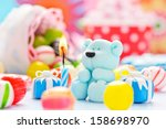 little sugar teddy with a... | Shutterstock . vector #158698970
