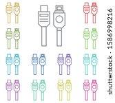 hardware  usb cable multi color ...