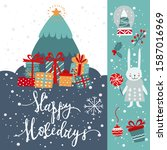 winter holidays greeting card... | Shutterstock .eps vector #1587016969