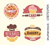 bakery badges set | Shutterstock .eps vector #158701904
