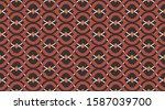 christmas vintage vector... | Shutterstock .eps vector #1587039700
