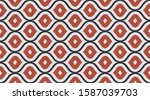geometric fashion fabric print. ... | Shutterstock .eps vector #1587039703