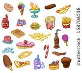 unhealthy food | Shutterstock .eps vector #158706518