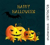 happy halloween message design... | Shutterstock . vector #158706728