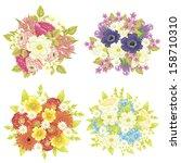flower set | Shutterstock . vector #158710310