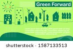 green forward concept with...