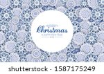 christmas abstract background... | Shutterstock .eps vector #1587175249